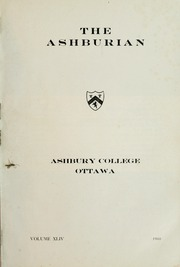 Page 3, 1960 Edition, Ashbury College - Ashburian Yearbook (Ottawa, Ontario Canada) online yearbook collection