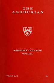 Ashbury College - Ashburian Yearbook (Ottawa, Ontario Canada) online yearbook collection, 1963 Edition, Page 1