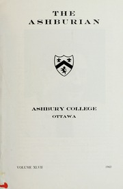 Page 3, 1963 Edition, Ashbury College - Ashburian Yearbook (Ottawa, Ontario Canada) online yearbook collection