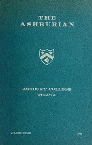 Ashbury College - Ashburian Yearbook (Ottawa, Ontario Canada) online yearbook collection, 1964 Edition, Page 1