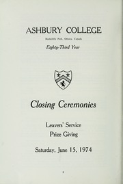 Page 10, 1974 Edition, Ashbury College - Ashburian Yearbook (Ottawa, Ontario Canada) online yearbook collection