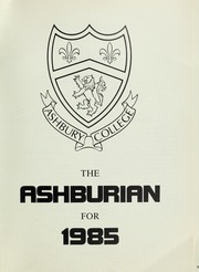 Page 5, 1985 Edition, Ashbury College - Ashburian Yearbook (Ottawa, Ontario Canada) online yearbook collection