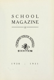 Selwyn House School - Yearbook (Montreal, Quebec Canada) online yearbook collection, 1931 Edition, Page 1