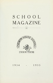 Selwyn House School - Yearbook (Montreal, Quebec Canada) online yearbook collection, 1935 Edition, Page 1