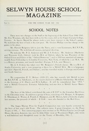 Page 3, 1941 Edition, Selwyn House School - Yearbook (Montreal, Quebec Canada) online yearbook collection