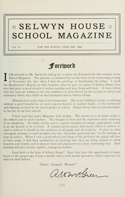Page 3, 1947 Edition, Selwyn House School - Yearbook (Montreal, Quebec Canada) online yearbook collection