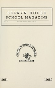 Page 1, 1952 Edition, Selwyn House School - Yearbook (Montreal, Quebec Canada) online yearbook collection