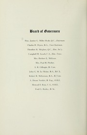 Page 2, 1952 Edition, Selwyn House School - Yearbook (Montreal, Quebec Canada) online yearbook collection