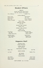 Page 11, 1963 Edition, Selwyn House School - Yearbook (Montreal, Quebec Canada) online yearbook collection