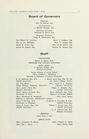 Page 9, 1963 Edition, Selwyn House School - Yearbook (Montreal, Quebec Canada) online yearbook collection