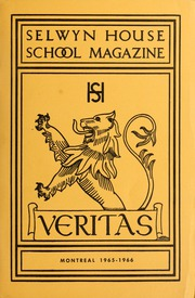 Page 1, 1966 Edition, Selwyn House School - Yearbook (Montreal, Quebec Canada) online yearbook collection