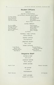 Page 12, 1967 Edition, Selwyn House School - Yearbook (Montreal, Quebec Canada) online yearbook collection