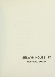 Page 5, 1977 Edition, Selwyn House School - Yearbook (Montreal, Quebec Canada) online yearbook collection