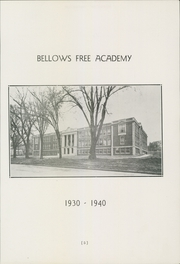 Page 7, 1940 Edition, Bellows Free Academy - Alpha Omega Yearbook (St Albans, VT) online yearbook collection