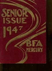 Bellows Free Academy - Alpha Omega Yearbook (St Albans, VT) online yearbook collection, 1947 Edition, Page 1