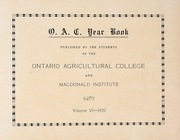 Page 7, 1920 Edition, Ontario Agricultural College - OAC Bulletin Yearbook (Guelph, Ontario Canada) online yearbook collection