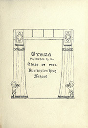 Page 5, 1922 Edition, Burlington High School - Oread Yearbook (Burlington, VT) online yearbook collection