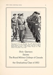 Page 17, 1953 Edition, Royal Military College of Canada - Review Yearbook (Kingston, Ontario Canada) online yearbook collection