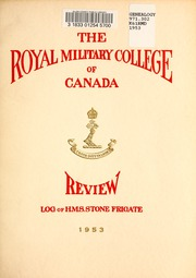 Page 5, 1953 Edition, Royal Military College of Canada - Review Yearbook (Kingston, Ontario Canada) online yearbook collection