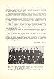 Page 137, 1957 Edition, Royal Military College of Canada - Review Yearbook (Kingston, Ontario Canada) online yearbook collection