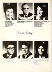 Page 10, 1969 Edition, Huron University College - Huron Heritage Yearbook (London, Ontario Canada) online yearbook collection