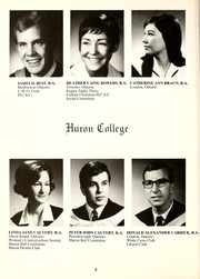 Page 12, 1969 Edition, Huron University College - Huron Heritage Yearbook (London, Ontario Canada) online yearbook collection