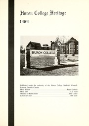 Page 5, 1969 Edition, Huron University College - Huron Heritage Yearbook (London, Ontario Canada) online yearbook collection