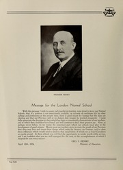 Page 10, 1934 Edition, London Normal School - Spectrum Yearbook (London, Ontario Canada) online yearbook collection