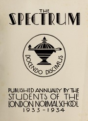 Page 3, 1934 Edition, London Normal School - Spectrum Yearbook (London, Ontario Canada) online yearbook collection