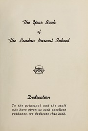 Page 5, 1939 Edition, London Normal School - Spectrum Yearbook (London, Ontario Canada) online yearbook collection