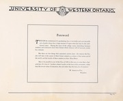 Page 9, 1930 Edition, University of Western Ontario - Occidentalia Yearbook (London, Ontario Canada) online yearbook collection