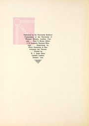 Page 6, 1937 Edition, University of Western Ontario - Occidentalia Yearbook (London, Ontario Canada) online yearbook collection