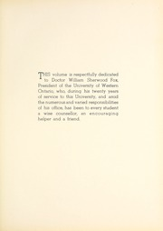 Page 9, 1937 Edition, University of Western Ontario - Occidentalia Yearbook (London, Ontario Canada) online yearbook collection