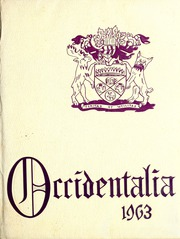 1963 Edition, University of Western Ontario - Occidentalia Yearbook (London, Ontario Canada)