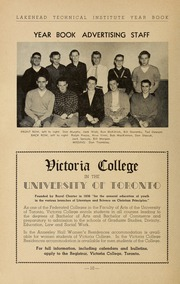 Page 12, 1953 Edition, Lakehead University - Yearbook (Thunder Bay, Ontario Canada) online yearbook collection