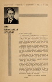 Page 5, 1953 Edition, Lakehead University - Yearbook (Thunder Bay, Ontario Canada) online yearbook collection