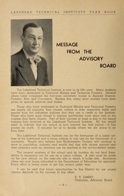Page 6, 1953 Edition, Lakehead University - Yearbook (Thunder Bay, Ontario Canada) online yearbook collection