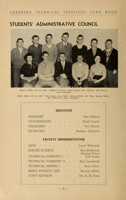 Page 8, 1953 Edition, Lakehead University - Yearbook (Thunder Bay, Ontario Canada) online yearbook collection