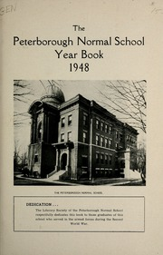Page 7, 1948 Edition, Peterborough Teachers College - PTC Yearbook (Peterborough, Ontario Canada) online yearbook collection