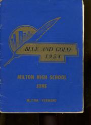 1954 Edition, Milton High School - Blue Gold Yearbook (Milton, VT)