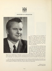 Page 10, 1967 Edition, Toronto Teachers College - Yearbook (Toronto, Ontario Canada) online yearbook collection
