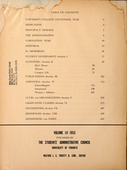 Page 6, 1953 Edition, University of Toronto - Torontonensis Yearbook (Toronto, Ontario Canada) online yearbook collection