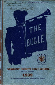 Page 1, 1939 Edition, Crescent Heights High School - Bugle Yearbook (Calgary, Alberta Canada) online yearbook collection