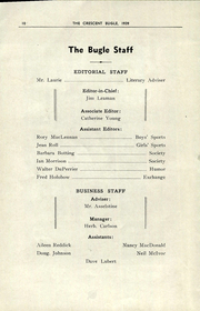 Page 12, 1939 Edition, Crescent Heights High School - Bugle Yearbook (Calgary, Alberta Canada) online yearbook collection