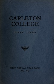 Page 1, 1943 Edition, Carleton University - Yearbook (Ottawa, Ontario Canada) online yearbook collection