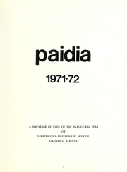Page 3, 1972 Edition, Strathcona Tweedsmuir School - Paidia Yearbook (Okotoks, Alberta Canada) online yearbook collection