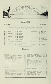Page 14, 1932 Edition, Pickering College - Voyageur Yearbook (Newmarket, Ontario Canada) online yearbook collection
