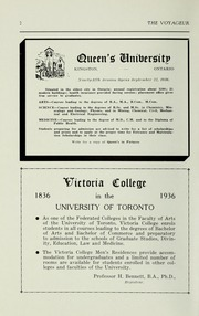 Page 4, 1936 Edition, Pickering College - Voyageur Yearbook (Newmarket, Ontario Canada) online yearbook collection