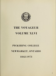 Page 5, 1973 Edition, Pickering College - Voyageur Yearbook (Newmarket, Ontario Canada) online yearbook collection