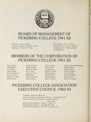 Page 6, 1982 Edition, Pickering College - Voyageur Yearbook (Newmarket, Ontario Canada) online yearbook collection